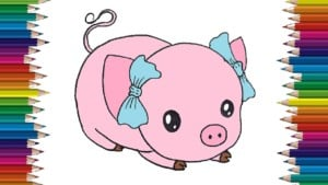 How to draw a pig cute and easy step by step