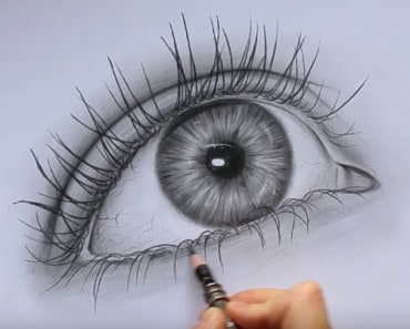 How to Draw a Realistic Eye easy step by step
