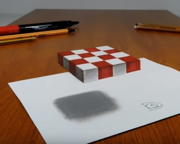 3D Trick Art on Paper
