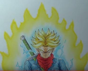 How To Draw Future Trunks Super Saiyan Rage