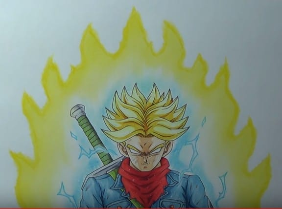How To Draw Future Trunks Super Saiyan Rage How To Draw