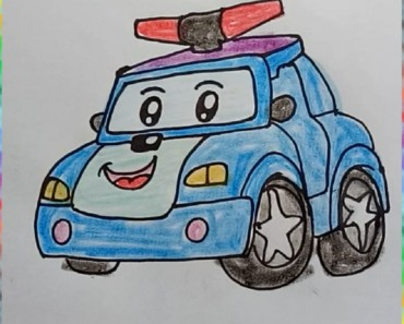 How to Draw Robocar Poli cute and easy step by step for kids