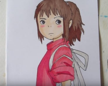How to draw Chihiro from Spirited Away