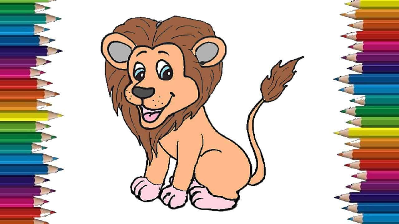 How To Draw A Lion Cute And Easy Step By Step Easy Animals To Draw For Kids