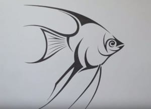 How to Draw an Angelfish step by step easy