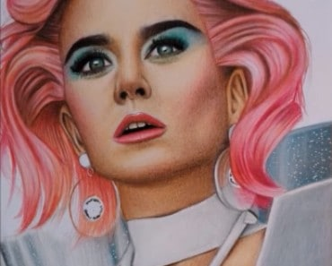 How to draw Katy Perry step by step