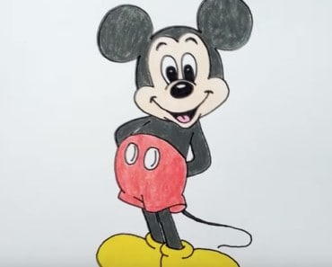 How to draw Mickey mouse from Mickey mouse
