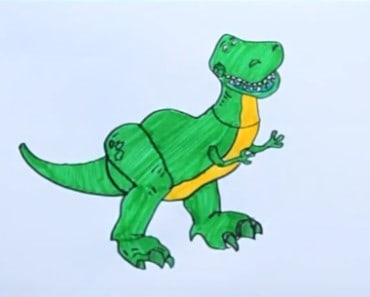 How to draw Rex from Toy Story