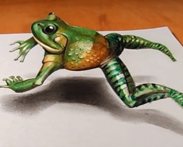 How to draw a 3D frog