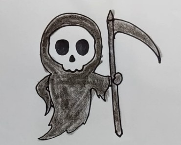 How to draw Death step by step