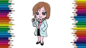 How to draw a Doctor cute and easy step by step