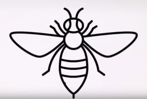How to draw a bee easy step by step