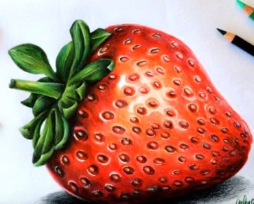 How to draw a strawberry easy step by step