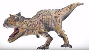 How to draw carnotaurus Dinosaur step by step