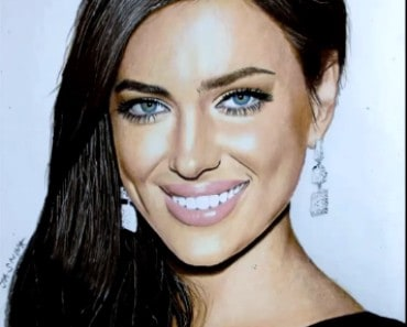 Irina Shayk drawing