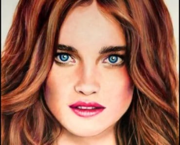 Natalia Vodianova drawing