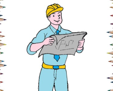 how to draw a engineer easy step by step - Easy drawing for kids