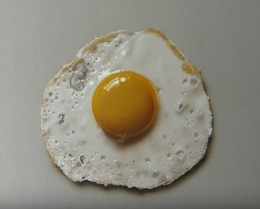how to draw a fried egg - 3D drawing easy