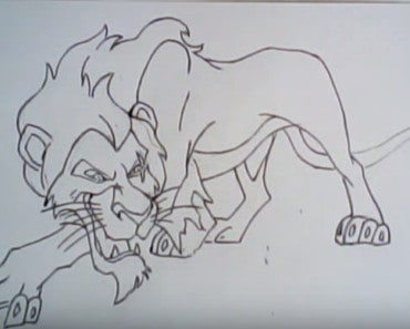 how to draw a scar from the lion king