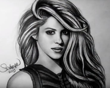 how to draw shakira step by step