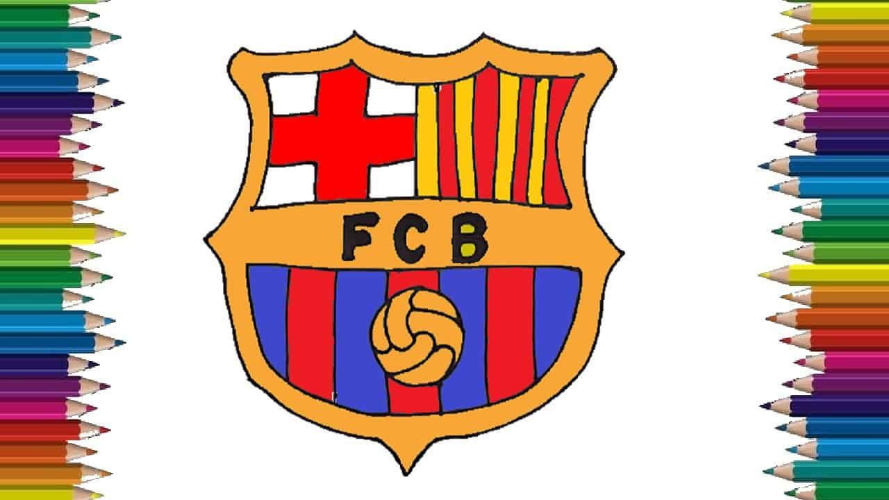 how to draw the fc barcelona logo step by step logo drawing how to draw the fc barcelona logo step