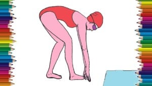 How to draw a Swimmer step by step - Easy drawings for kids