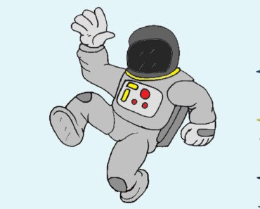 How to draw an astronaut step by step - Easy drawings for kids