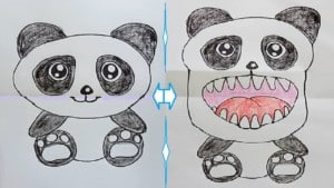 Incredible ideas that will boost your imagination, funny pictures - Funny panda drawing