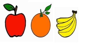 Drawing for Kids 3 Fruit Coloring Pages How to draw Apple Orange and banana for Childrens