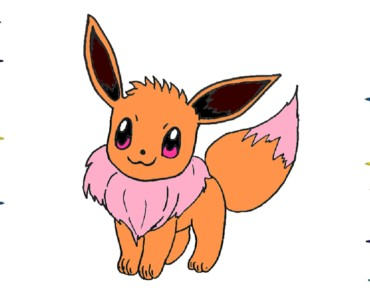 How to draw a Eevee from Pokemon step by step
