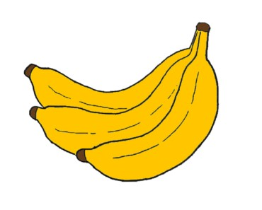 How to draw a banana step by step - easy fruit drawing