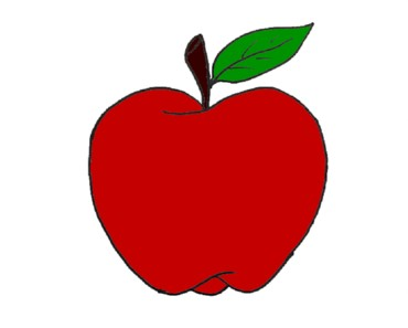 How to draw an apple step by step - Apple drawing and coloring