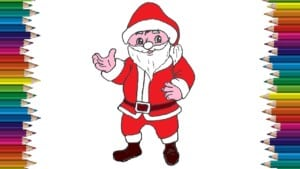 How to draw santa claus cute and easy - Easy drawings for kids