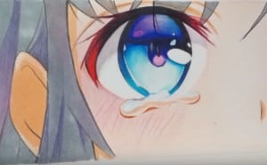 How to Draw Anime Eyes with Tears