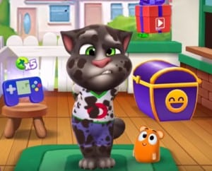 My Talking Tom fun with Bubble - funny video Tom