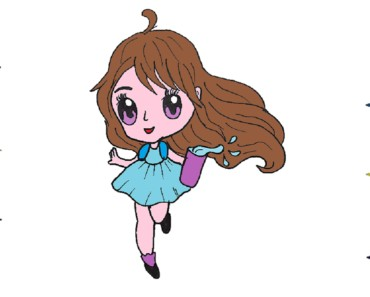 How to draw anime girl cute and easy - Baby girl drawing step by step