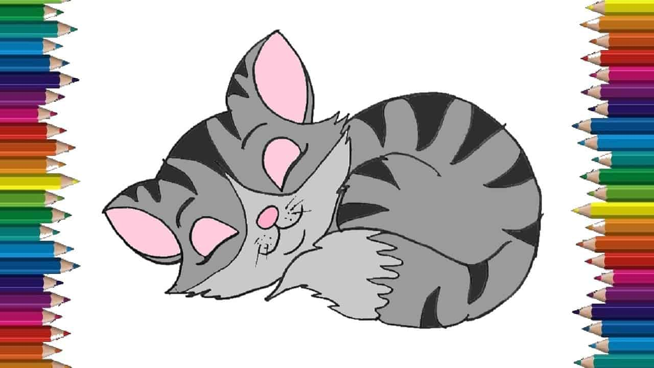 How To Draw A Baby Cat Cute And Easy Baby Kitten Drawing Step By