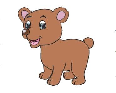 How to draw a cute baby bear step by step - Aprende a dibujar un Oso bebe Kawaii