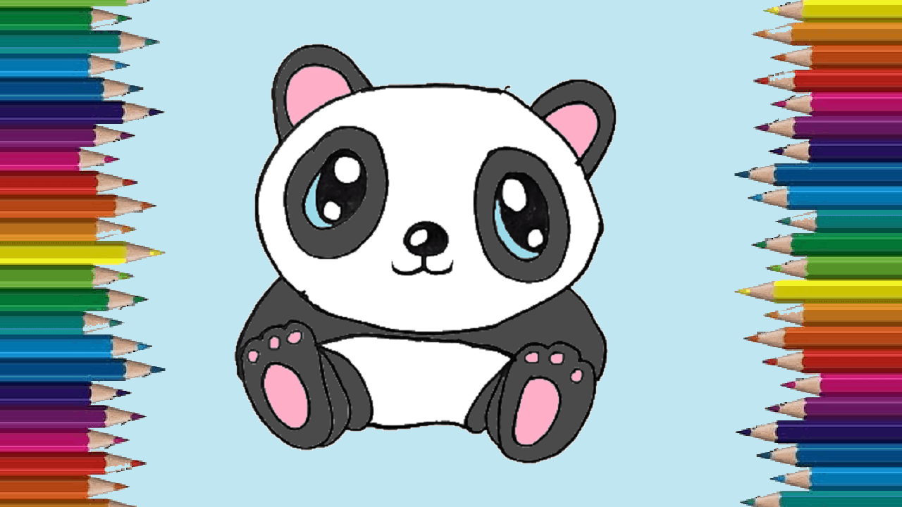 How To Draw A Cute Panda Easy Baby Panda Drawing Step By Step