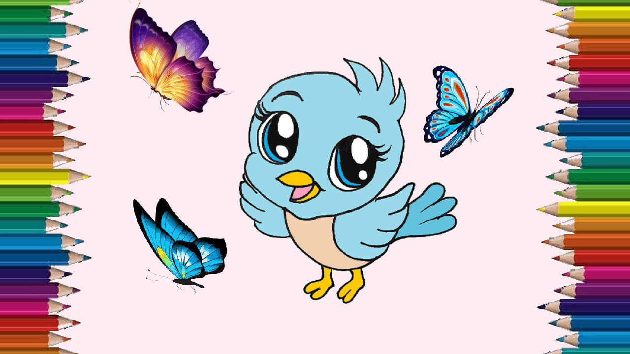 How To Draw A Baby Bird Cute And Easy Cartoon Bird Drawing Step