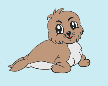 How to draw a baby seal cute and easy - Seal cartoon drawing step by step