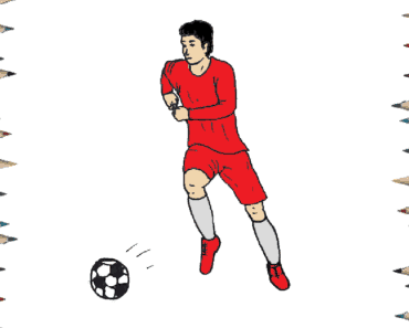 How to draw a football player step by step