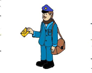 How to draw a postman step by step