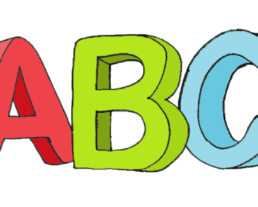 ABC 3D drawing and coloring - How to draw abc in 3D
