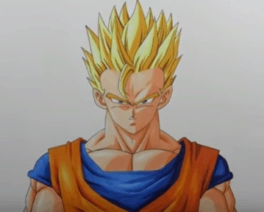 Drawing Dragon Ball Super Saiyan