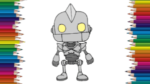 How to draw The Iron Giant step by step - The iron giant drawing easy for childrens