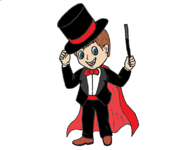 How to draw a Magician cute and easy - Cartoon Magician drawing and coloring