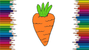 How To Draw A Carrot Easy For Beginners
