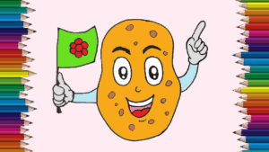 How To Draw A Potato Cute And Easy Cartoon Potato Drawing For