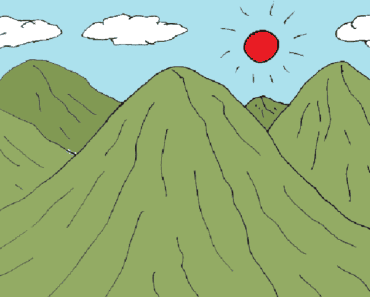 How to draw a landscape, kids drawing,mountains